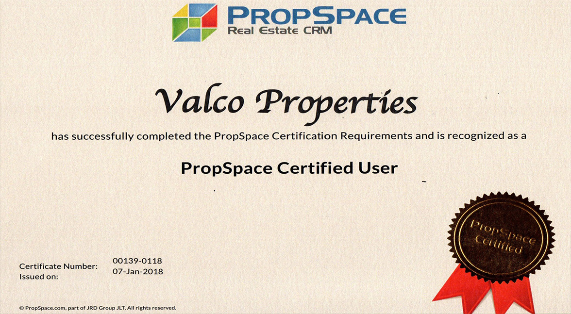 Propspace Certified User